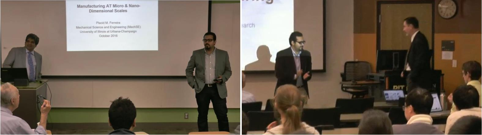 Dr. Bedewy hosts two seminars on Nanomanufacturing in the Fall 2016 IE Graduate Seminar Series